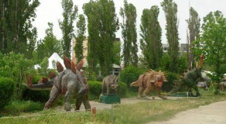 """Καρδίτσα: Οριστικοποιήθηκε το εορταστικό """"στήσιμο"""" του πάρκου των δεινοσαύρων με πολλά εκθέματα"""