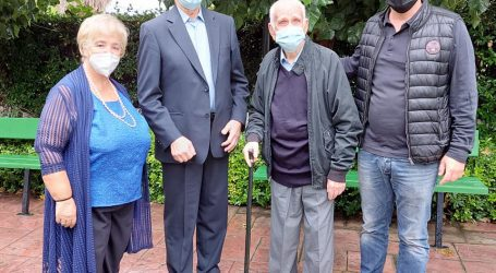 Βόλος: Τιμήθηκε ο 105χρονος μοναδικός επιζών της μάχης στο ύψωμα 731
