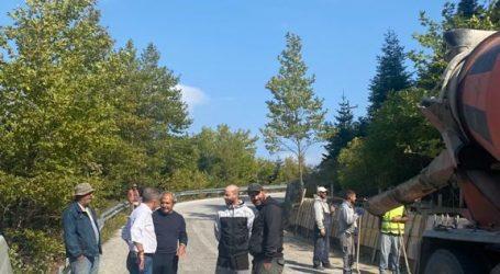 Τοίχος προστασίας από βραχοπτώσεις στο δρόμο Αμάραντος-Νεράιδα από την Περιφέρεια Θεσσαλίας