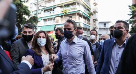 Μητσοτάκης – Επίσκεψη στο Γαλατσι για τις εσωκομματικές εκλογές της ΝΔ