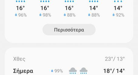 Χειμώνιασε στα Τρίκαλα. Βροχές μέχρι την… Τετάρτη!!!