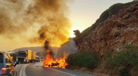 Ρέθυμνο – Παρανάλωμα του πυρός έγινε αυτοκίνητο στον ΒΟΑΚ